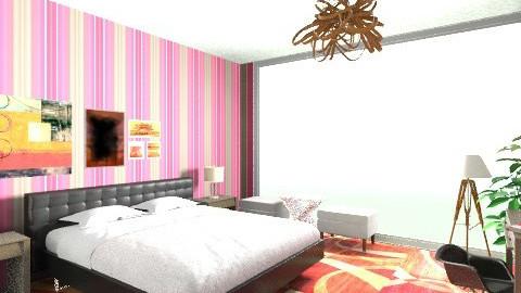 Hotel Bedroom - Retro - Bedroom - by luqdragon