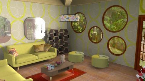 yellow - Retro - Living room  - by blogi