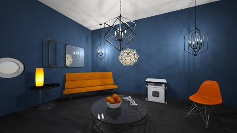 Orange and Blue - Modern - Living room  - by Faolan