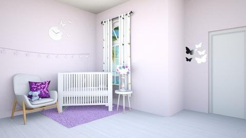 Purple Nursery - Kids room - by beach2019