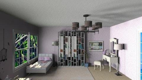 girly pink bedroom - Glamour - Bedroom  - by Denitza Marinova
