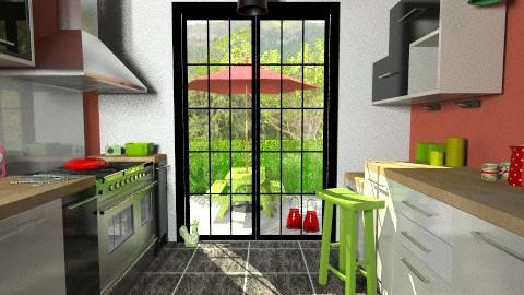 watermelon kitchen - Modern - Kitchen  - by Thrud45