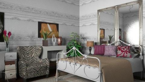 Brown_2 - Eclectic - Bedroom  - by milyca8