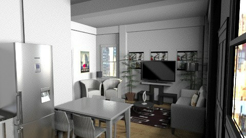Small Apartment - Minimal - Living room  - by yourjieee