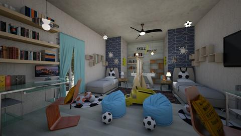 Boys_Modern _Soccer_Interior_ - Modern - Kids room - by Nikos Tsokos
