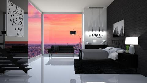 Modern Bedroom - Modern - Bedroom  - by UnluckyCassidy