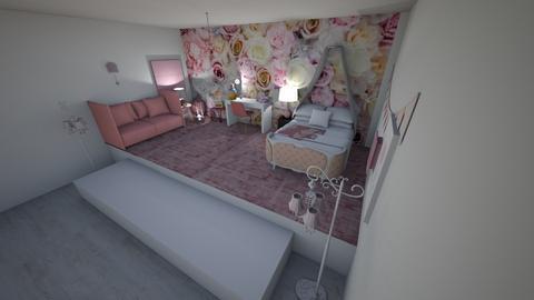 pink bedroom - Bedroom  - by tyran26