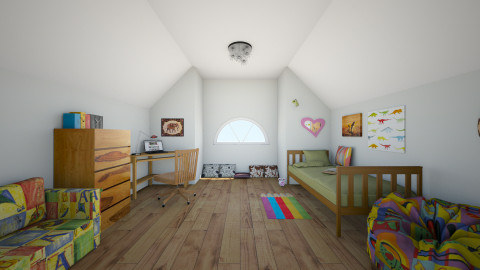 Teenager mansard - Eclectic - Kids room  - by Sand_Witch