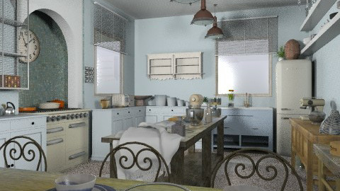 Rustic Kitchen - Rustic - Kitchen  - by camilla_saurus