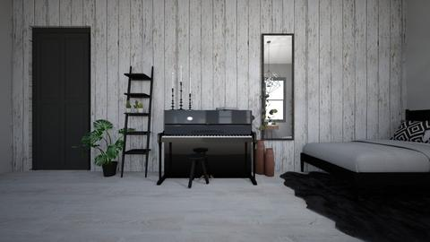 b l a c k_w h i t e  - Modern - Bedroom  - by Marlisa Jansen