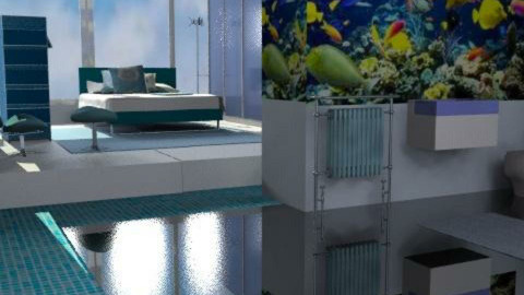 Fish Tank Ensuite - Minimal - Bathroom  - by Interiors by Elaine