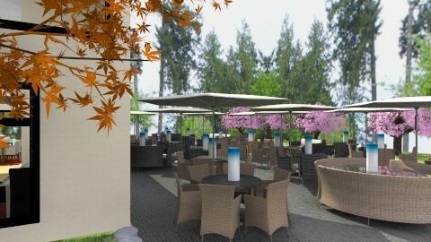 Outdoor Restaurant - Modern - Garden  - by angel003