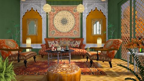 M_Indian Colors - Living room  - by milyca8