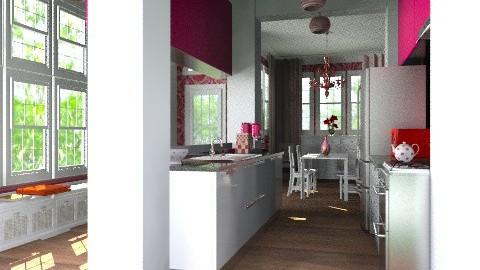 Garden home kitchen - Eclectic - Kitchen  - by carolhardtke