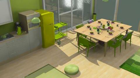 green kitchen - Minimal - Kitchen  - by chelseajade