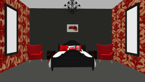 Red and black - Glamour - Bedroom  - by martha123