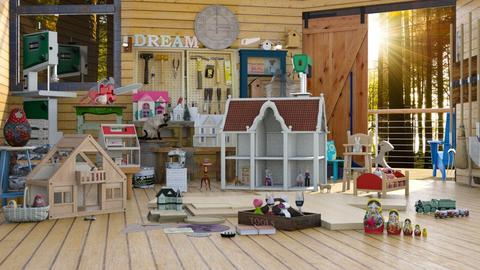 building dollhouses - by Teri Dawn