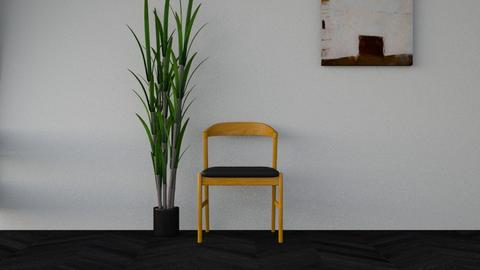 Chair plant and America - by aurora dobric