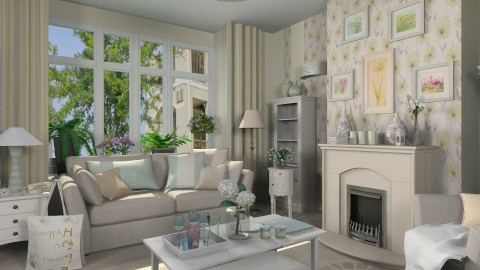 Pastel Living - Living room  - by Violetta V