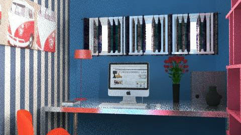 retro blue/red/black - Retro - Office  - by misija