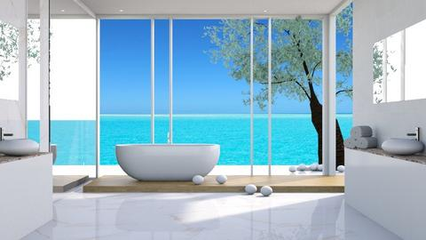 View_3_Ocean - Bathroom - by ArtHousedeco