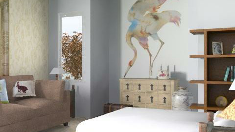 Guest Bed - Eclectic - Bedroom  - by hunny