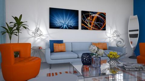 orange and blue - Modern - Living room  - by Anseva