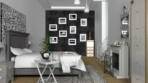 Mono Basement Bed II - Classic - Bedroom  - by hunny