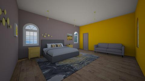 Yellow and Grey living  - Living room  - by XenaChico