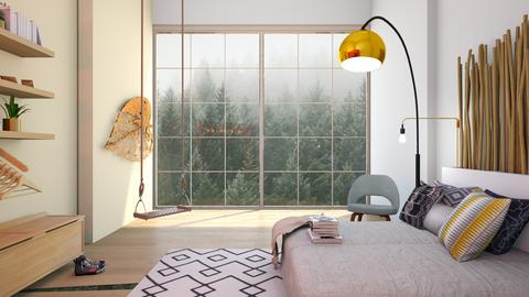 Forest Bedroom - Bedroom - by artsy_naturelover