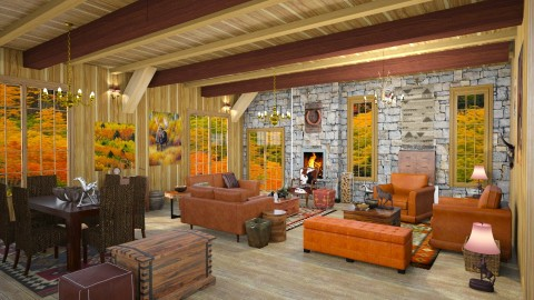 howdy living - Rustic - Living room  - by Moonpearl