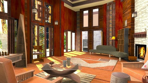 Forest retreat - Modern - Living room  - by katmills98