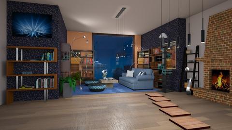 book paradise - Modern - Living room  - by BlackOrchidea