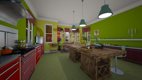 Watermelon Kitchen After - Kitchen - by Sharon Barnes