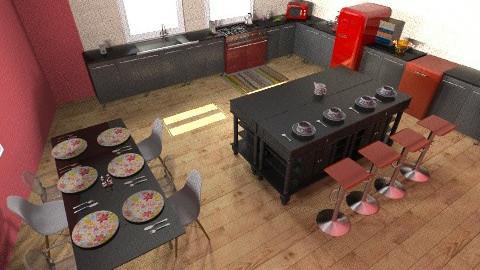 My Ideal Kitchen - Retro - Kitchen  - by hartmadi2