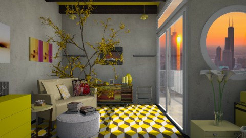 Mood for Yellow - Rustic - Living room  - by ayudewi