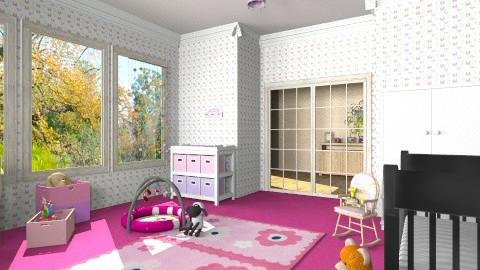 baby girl room - Kids room  - by ANAAPRIL