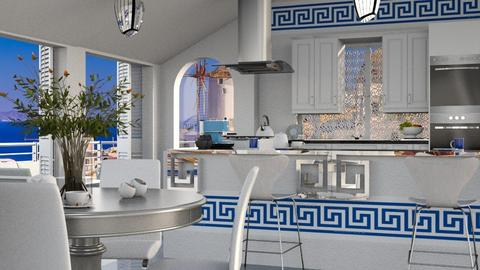 Modern Greek Kitchen - by ZsuzsannaCs