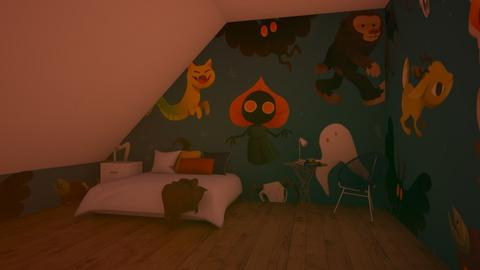 Cryptids - Modern - Bedroom  - by matildabeast