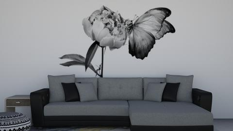 Grey and White Snug - Modern - Living room  - by Khayla Simpson