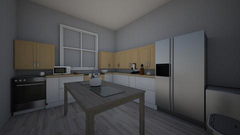 L Shaped Kitchen allie - Modern - Kitchen  - by alliemelka