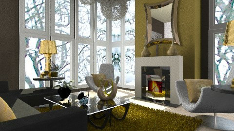 Gold Finger - Eclectic - Living room  - by Patrick Mallaley