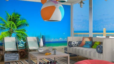 Welcome to my beach house - Rustic - Living room  - by carolinafer