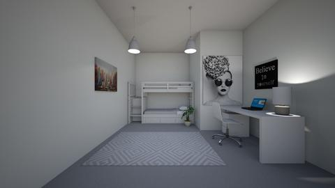 Teen Grey Bedroom edited - Glamour - Bedroom  - by ZolaKate