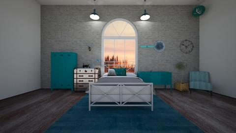Turquoise Bed warehouse - Rustic - Bedroom - by 011958