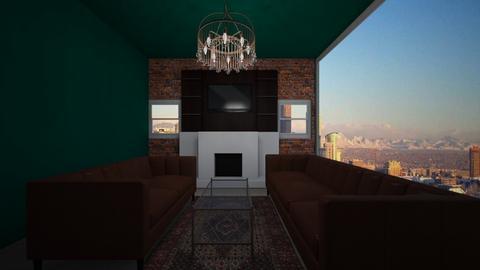 Rustic living room - Rustic - Living room  - by cowplant_4life