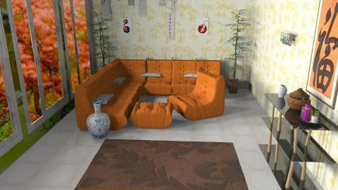 Japanese style - Glamour - Living room  - by ioanavladut7