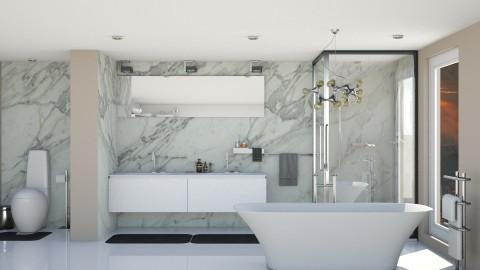 Blanc - Modern - Bathroom  - by aletamahi