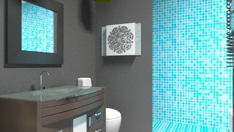 No Morning Blues - Modern - Bathroom  - by vanessa_designs