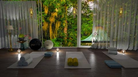 Yoga garden peaceful - by ashpashly